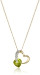 Diamond Accented Heart Pendant in 10K Yellow Gold