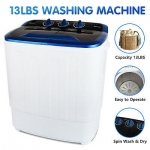 KUPPET Portable 17 lbs Compact Twin Tub Washer and Spin Dryer Combo