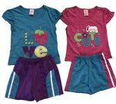 Little Girls Short Set Summer Cotton Clothing Set