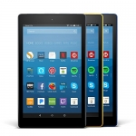 Fire HD 8 Variety Pack, 16GB (Black/Marine Blue/Canary Yellow)