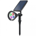 2 in 1 Solar Spotlights, Upgraded Solar Garden Lights Outdoor