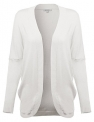 Awesome21 Women's Solid Soft Stretch Long-Line Long Sleeve Open Front Knit Cardigan