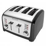 BLACK+DECKER 4-Slice Toaster, Stainless Steel