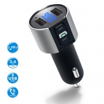 Wireless Bluetooth FM Radio Adapter Car Kit with Hands-Free Calling