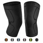 CAMBIVO 2 Pack Knee Brace, Knee Compression Sleeve