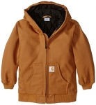 Carhartt Little Boys' Active Jacket Flannel Quilt Lined