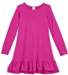 City Threads Girls' Super Soft Cotton Long Sleeve Dress