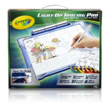 Crayola Light Up Tracing Pad Blue Coloring Board For