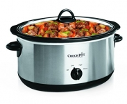 Crock-Pot 7-Quart Oval Manual Slow Cooker, Stainless Steel