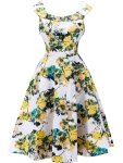 Doll Collar Fascinating Floral Printed Skater Dress