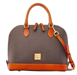 Dooney & Bourke Pebble Grain Zip Zip Satchel Handbag