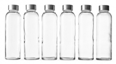 18-Oz. Glass Beverage Bottles, Set of 6
