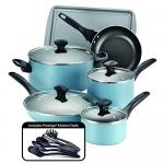 Farberware 15 Piece Dishwasher Safe Nonstick Cookware Set