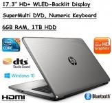 Flagship Model HP 17.3″ Premium High Performance HD+ WLED-Backlit Laptop, Intel Core i3-5005U, 6GB RAM, 1TB HDD, Windows 10