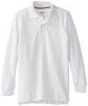 French Toast Big Boys' Long-Sleeve Pique Polo Shirt