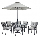 Hanover Outdoor Furniture 7 Piece Dining Set with Umbrella