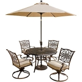 Hanover Outdoor Furniture 5 Piece Traditions Deep Cushioned Dining Set