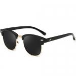 Joopin Semi Rimless Polarized Women Men Retro Brand Sunglasses