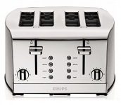 KRUPS 4-Slot Toaster with Brushed and Chrome Stainless Steel Housing