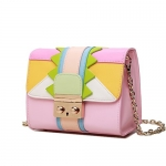Women's Push-Lock Mini Crossbody Handbag