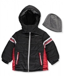 London Fog Boys' Jacket with Beanie