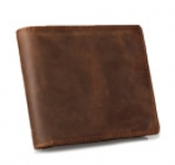 Men Money Clip Wallet Genuine Leather Card Holder