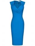 MUXXN Women's Slim Business Pencil Dress