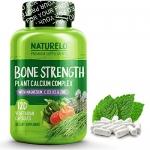 NATURELO Bone Strength – with Plant Calcium, Magnesium, Vitamins C, D3, & K2