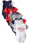 Nautica Baby Boys' 5 Pack Bodysuits