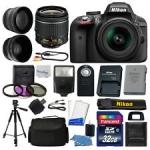 Nikon D3300 Digital SLR Camera Body 3 Lens Kit