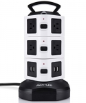 Surge Protector Power Strip Tower With 10 Outlet Plugs & USB