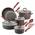 Rachael Ray Cucina Hard-Anodized Aluminum Nonstick Cookware Set, 12-Piece