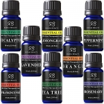 Radha Beauty Aromatherapy Top 8 Essential Oils 100% Pure & Therapeutic grade