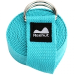 Reehut Yoga Strap (6ft, 8ft, 10ft) – Durable Cotton Exercise Straps