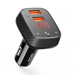 Roav by Anker, SmartCharge F2 Bluetooth Receiver/FM Transmitter