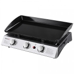 Portable 3-Burner Propane Gas Grill Griddle