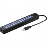 Sabrent 13 Port High Speed USB 2.0 Hub with Power Adapter