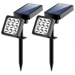 Solar Spotlight, 2-in-1 Waterproof Outdoor Solar Landscape Lighting