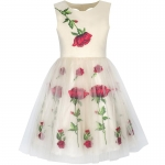 Sunny Fashion Girls Dress Rose Flower