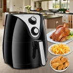 Super Deal 1500W Electric Air Fryer W/Temperature Control