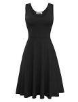 Tom's Ware Womens Casual Fit and Flare Sleeveless Dress