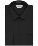 Van Heusen Men's Regular Fit Solid Point Collar Dress Shirt