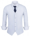Men's Casual Slim Fit Skinny Dress Vest Waistcoat
