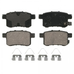 Wagner QuickStop ZD1451 Ceramic Disc Pad Set Includes Pad Installation Hardware, Rear